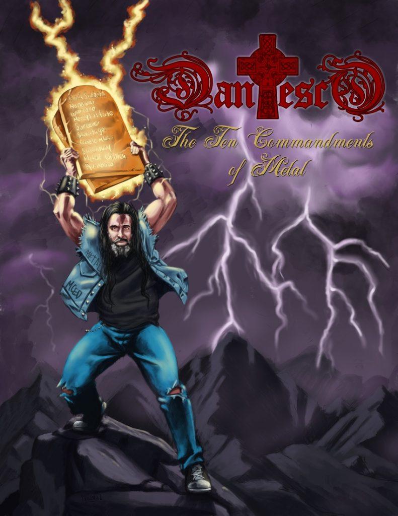 The Ten Commandments of Metal album cover.